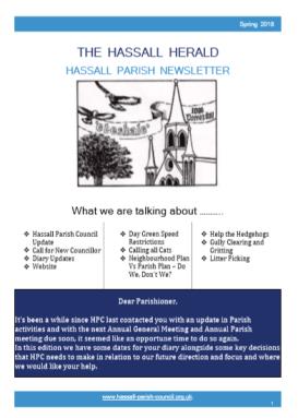 Spring Newsletter 2018